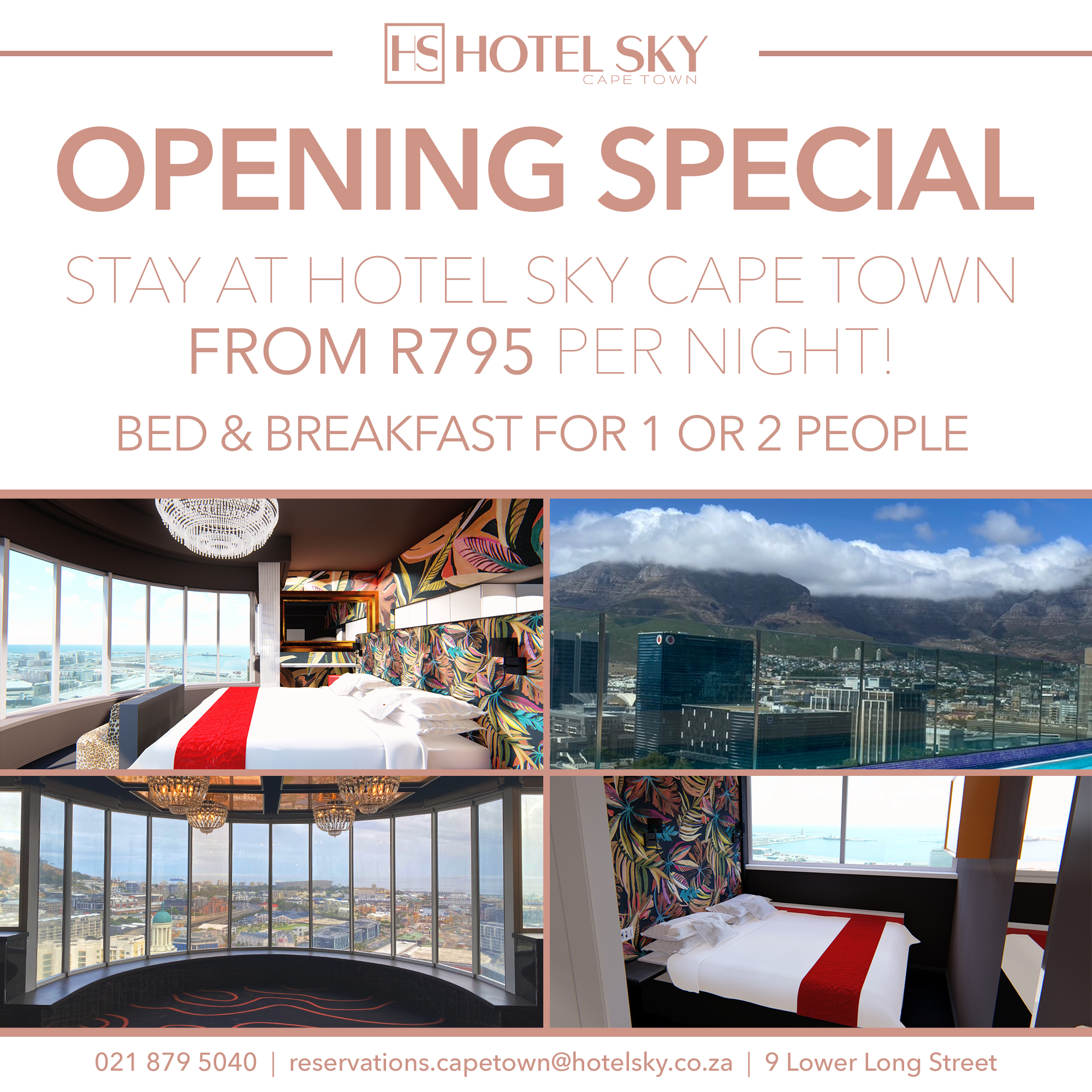 Opening special for Hotel Sky Cape Town