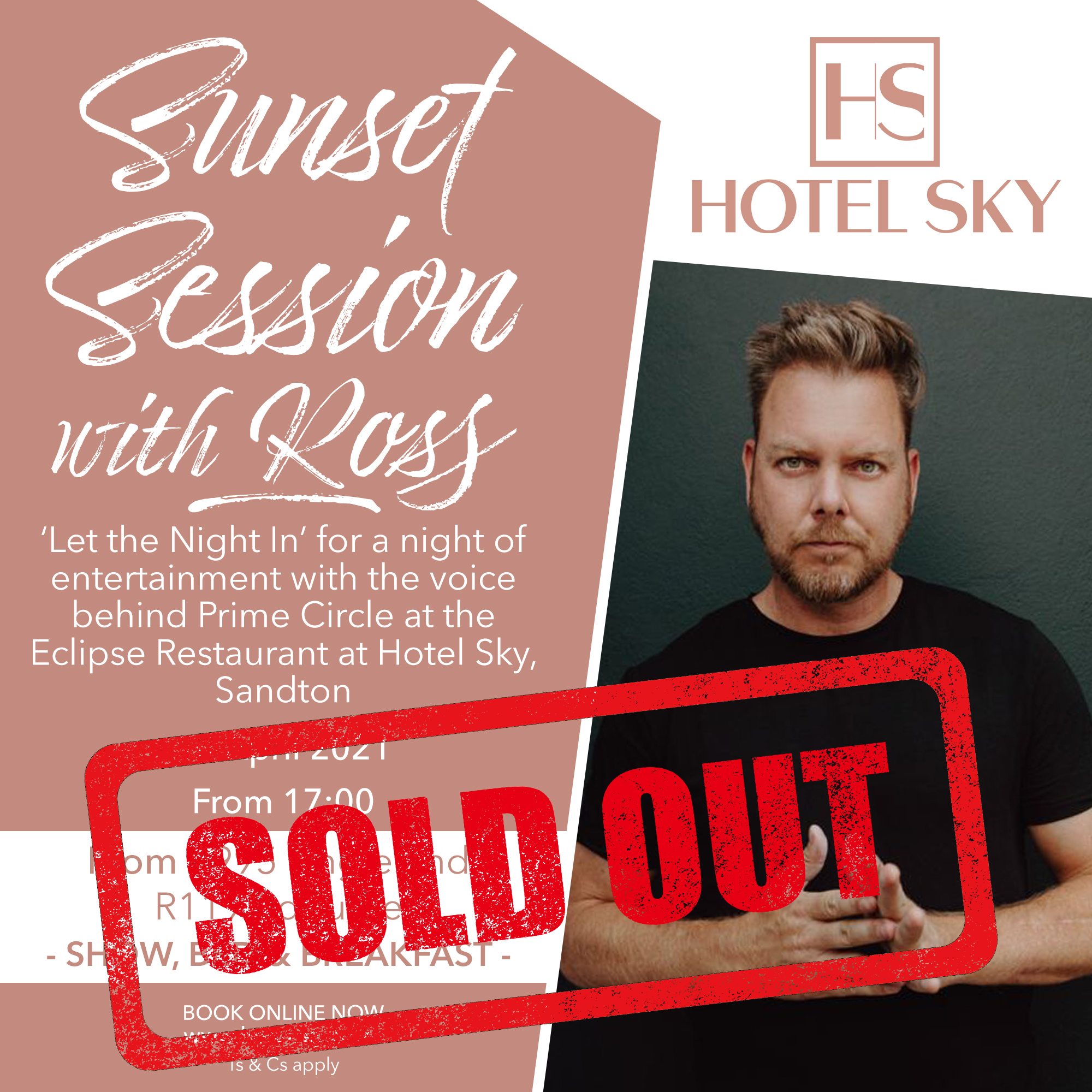 Ross Learmonth from Prime Circel will perform at Hotel Sky Sandton