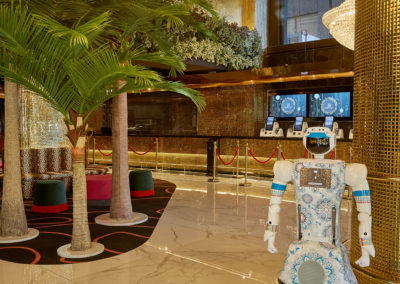 AI-powered robots at Hotel Sky Cape Town