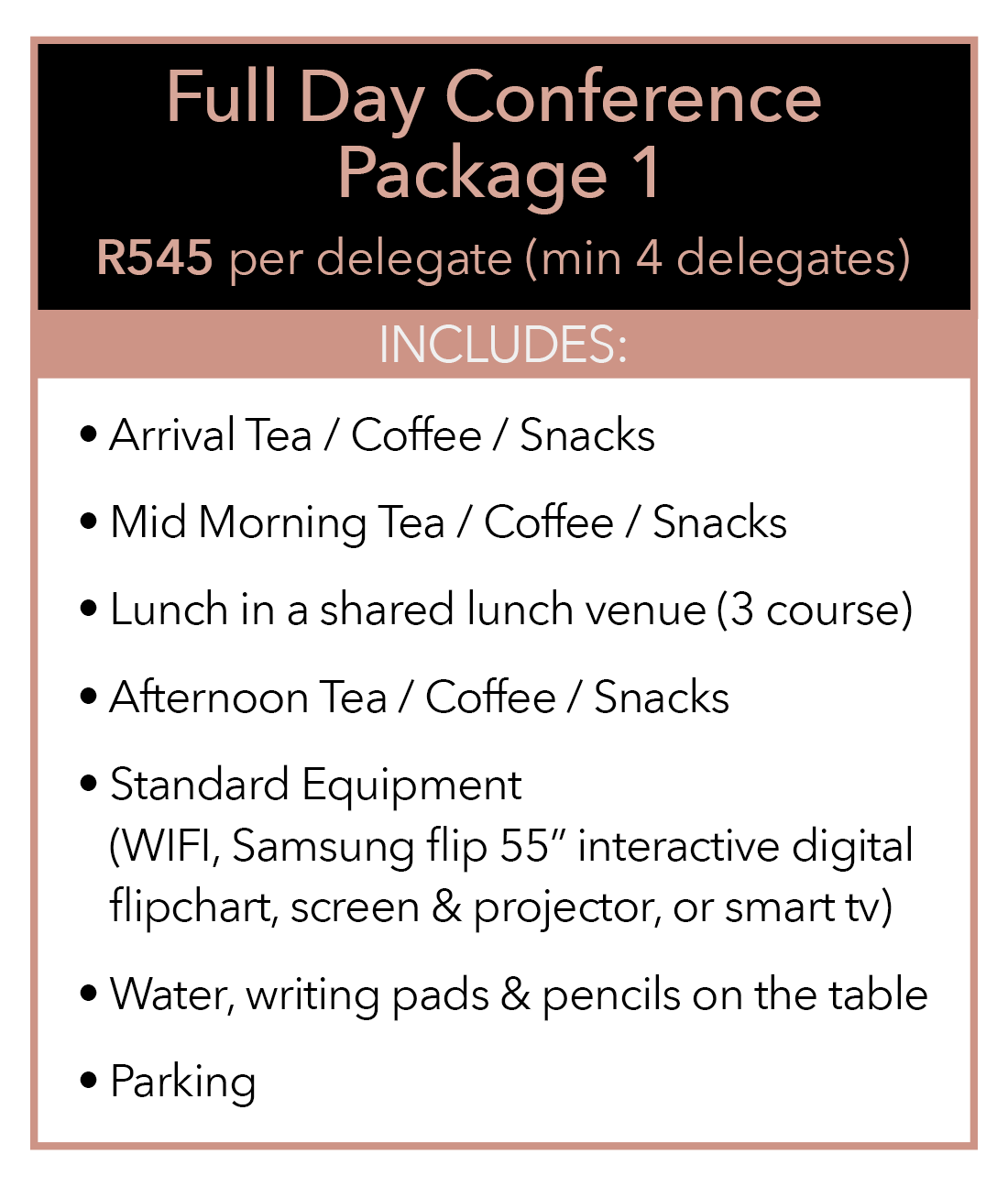 Full Day Package at Hotel Sky Sandton
